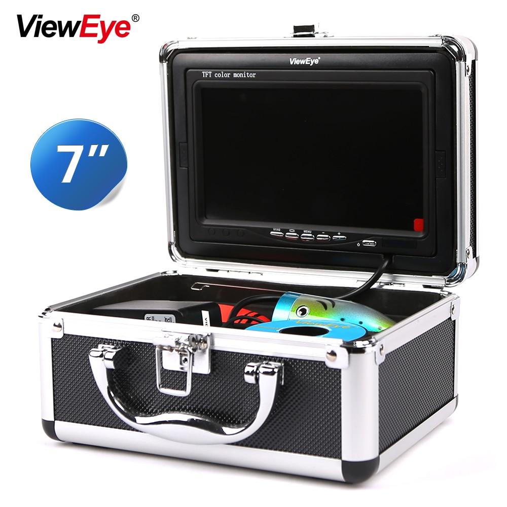 ViewEye Fish Finder Underwater Fishing Camera 7 Inch 1000TVL Waterproof Video Underwater Camera 12 PCS Infrared