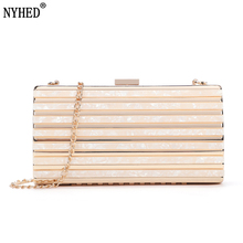 Women Causal Clutches Bag Female Evening Dinner Party Small Clutch Handbag Chains Pouch evening bags pearls blue beaded bride dinner bag ladies temperament chains shoulders lady female handbag great quality