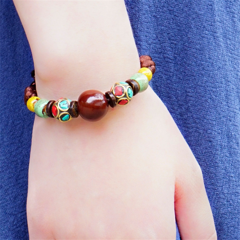 bracelet for font b women b font 2016 new ceramic bodhi rope chain trendy fashion jewelry