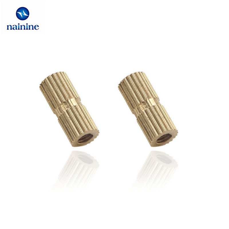 все цены на 100Pcs M2*L-3.5 M2.5*L-3.5 M3*L-4.2(OD) M4 Injection Molding Nut Brass Insert Knurled Nuts Knurling Embedded Parts HW038 онлайн
