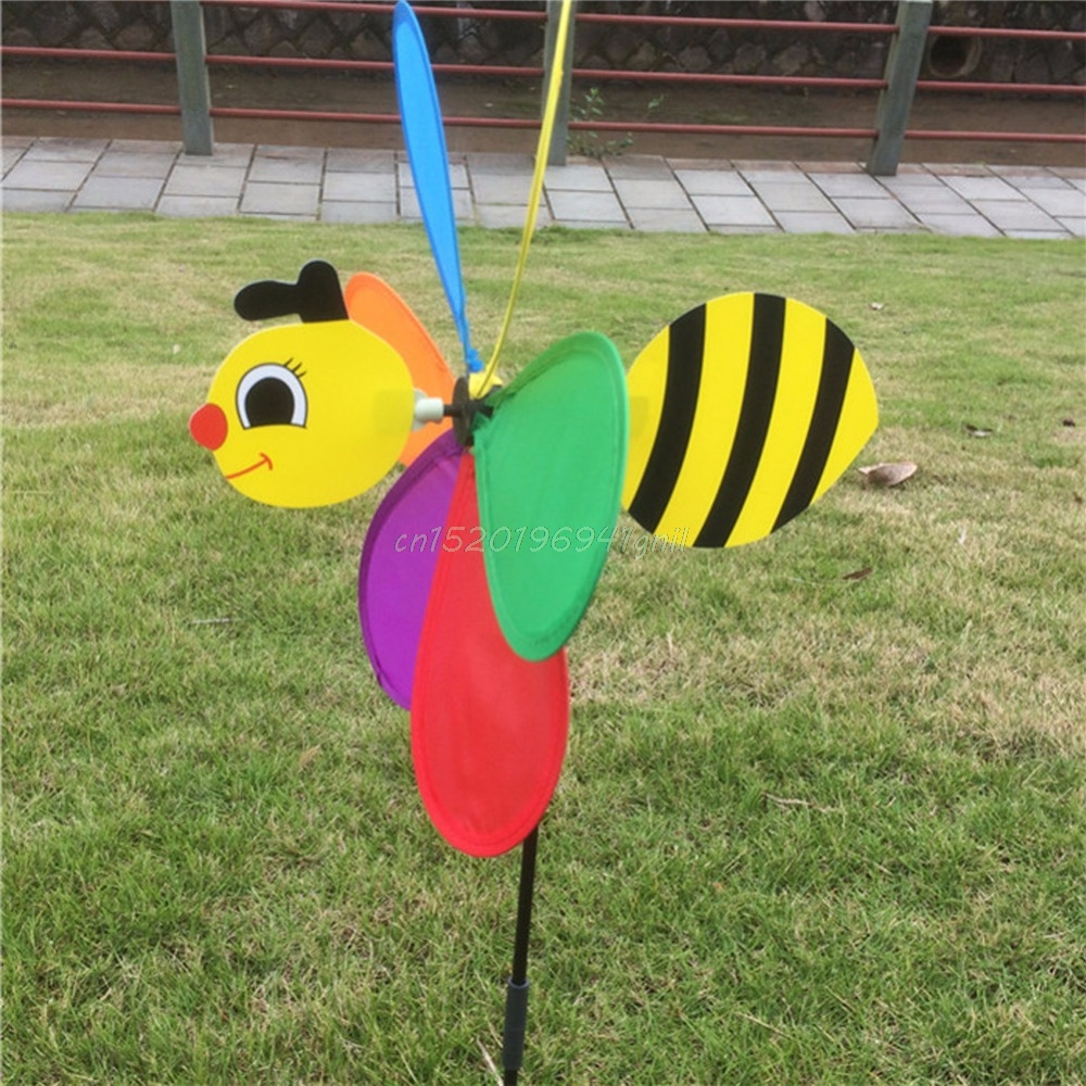 Cute 3D Large Animal Bee Windmill Wind Spinner Whirligig Yard Garden Decor Foldable T025
