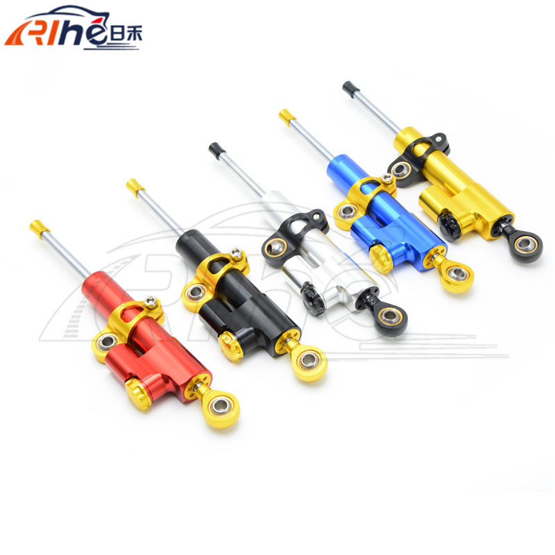 5 colors Motorcycle Stabilizer Linear Reversed Safety Control Steering Damper For honda cbr400 yamaha t-max530 500 ktm 990 duke universal motorcycle olhins steering damper aluminum alloy steering damper stabilizer linear reversed safety control 5 colors