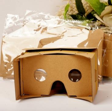 by DHL or Fedex 500pcs DIY Cardboard VR 3D VR Glasses