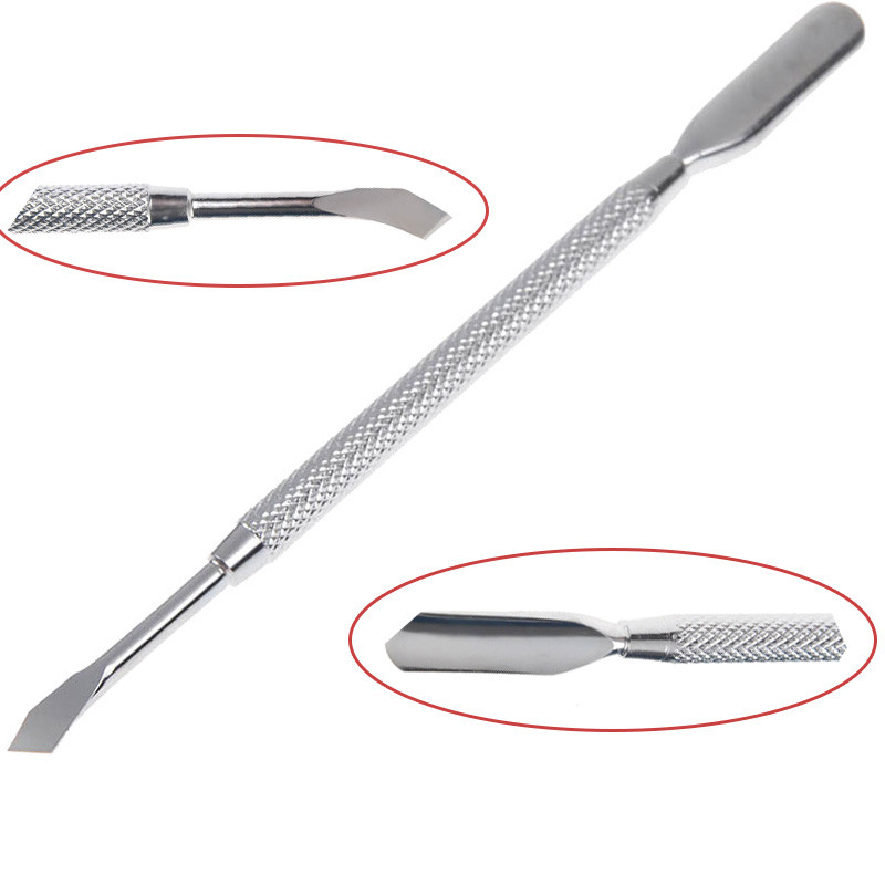 1 Pc Double ended Cuticle Pusher Remover Stainless Steel Stylish Pedicure font b Nail b font