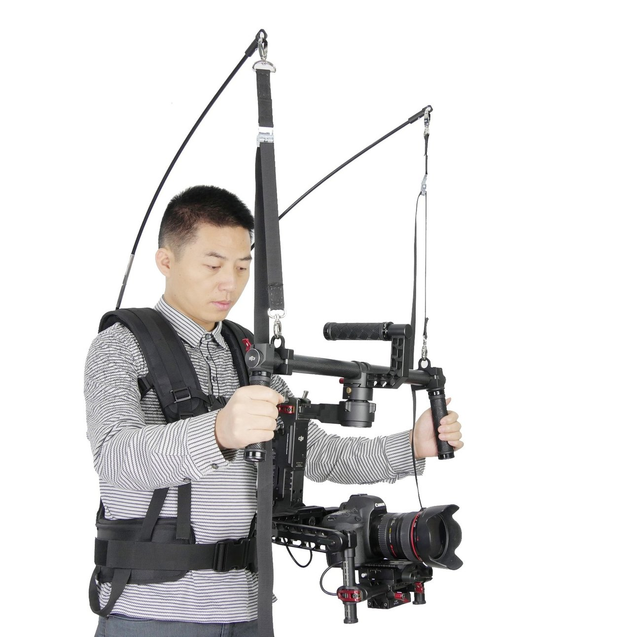 Laing V9 Waterproof Stabilizer Vest 2-6kg Loading Capacity with Climbing Carabiner for DJI Ronin 3 Axis Gimble Stabilizer Assist laing h5 mini carbon fiber handheld stabilizer with 6 17lb 2 8kg loading capacity for dslr cameras with bag and arm brace wrist