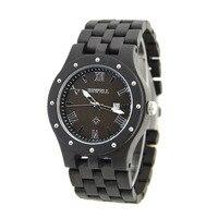 Man Calendar Bracelet Quarts Watches Male Handmade Wooden Business Watch Horloges Mannen Saat