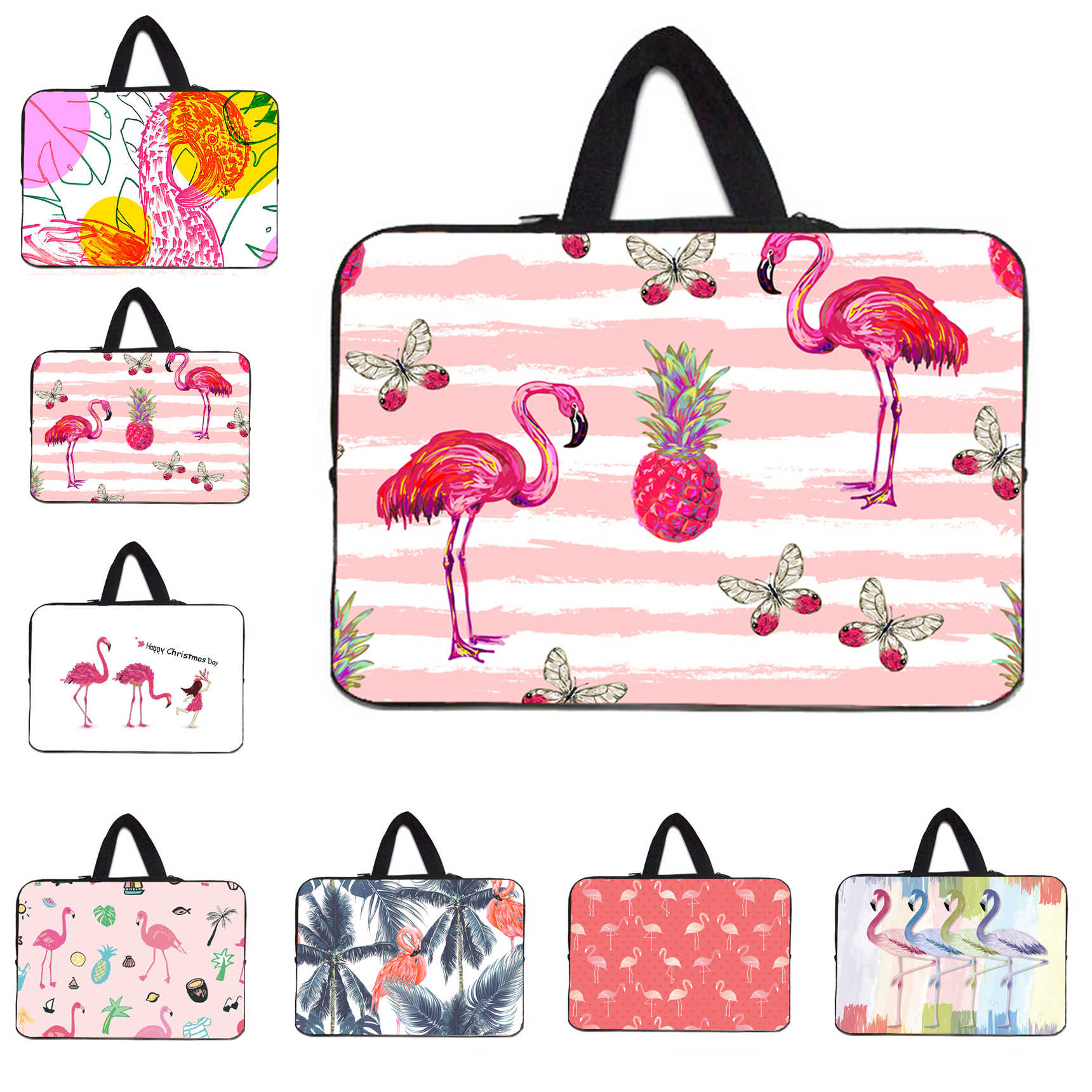 Fashion Flamingo Laptop Casing Tablet 10.1 10 11.6 12 13.3 14 15.4 15.6 17 Inch Notebook Shell Case Netbook Liner lengan Nilon Tas