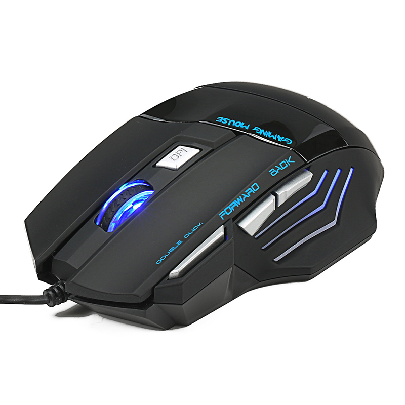Computer Accessories Cool 5500 DPI 7 Button LED Optical USB Wired Gaming Mouse Mice For Pro Gamer New professional wired gaming mouse 7 button 5500 dpi led optical usb computer mouse gamer mice x7 game mouse