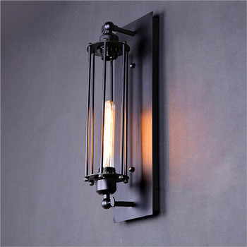 New Modern Wall Lights Black Metal Industrial Mini Wire Cage Wall lamps Sconce Shade Bulbs not Included