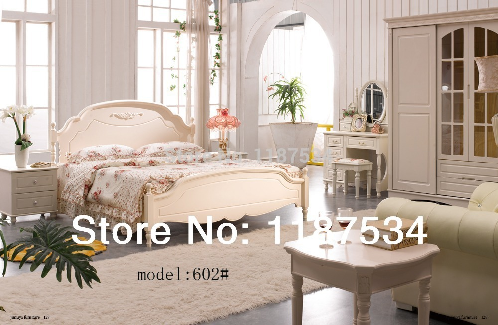 Modern home furniture bedroom set bed wardrobe nightstand dresser table dresser stool bedroom furniture set