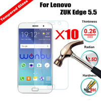 XSKEMP 10Pcs/Lot Wholesale Clear Tempered Glass Film For Lenovo ZUK Edge 5.5 9H 2.5D LCD Screen Protector Cover With Clean Tools