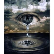 5D Diy Daimond Painting  square Tears Scenery Diamond Full Round Rhinestones Diamant Embroidery Decor v101