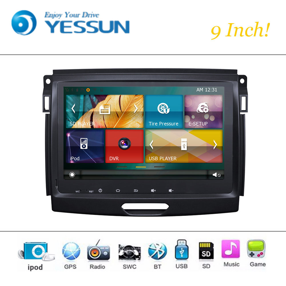 Car DVD Player Android Wince System For Ford Ranger 9 Inch Autoradio Car Radio Stereo GPS Navigation Multimedia Audio Video цена