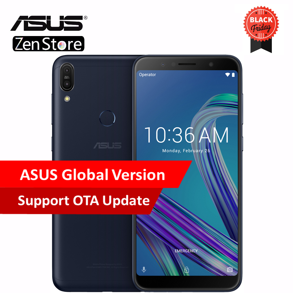 Asus ZenFone Max Pro (M1) ZB602KL Global Version SnapDragon 636 Android 8.1 4GB 64GB 6 inch 18:9 FHD+ Telephone Face ID 5000mAh
