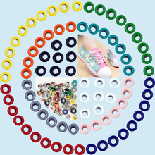 DIY craft materials. Eye color spray gas. Eyelets rivets. Corn. Color buttonholes. Multicolor corns buckle. Shoelaces eye