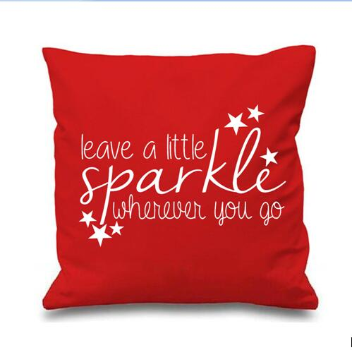 Cool Quote Throw Pillows Case Leave A Little Sparkle Letters Beauteous Little Girl Decorative Pillows