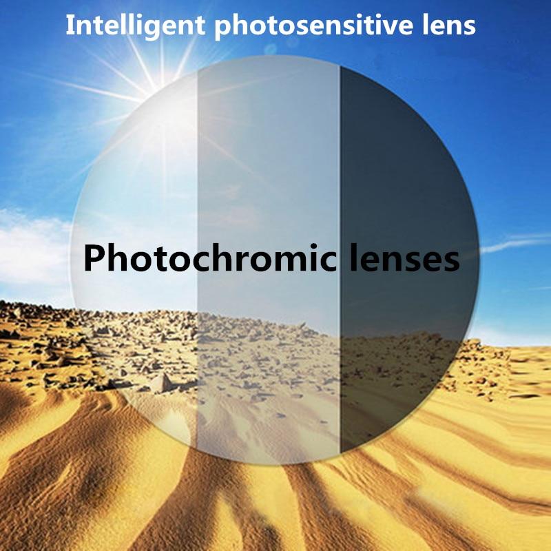 1.56 1.61 1.67 lentille d'index lentille photochromique couleur modifiée sur le soleil lentilles optiques Prescription lunettes