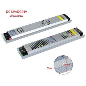 Image 2 - 超薄型 led 電源 DC12V 5 v 24 v 200 ワット 300 ワット led ドライバ AC190 240V 照明トランスフォーマー led ストリップライト