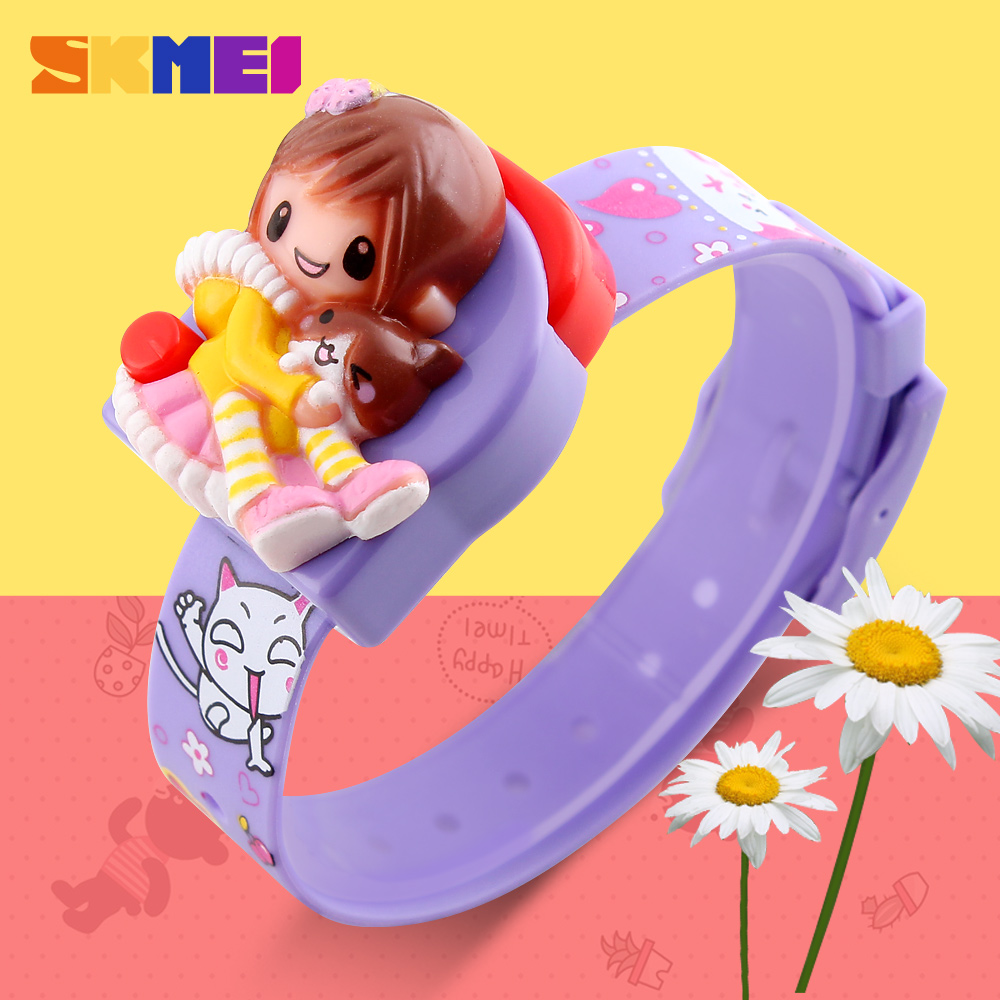 SKMEI New Cartoon Children Digital Watch Reloj Fashion Girl Student Cute Kids Watches Relogio Masculino Sports Wrist Watches
