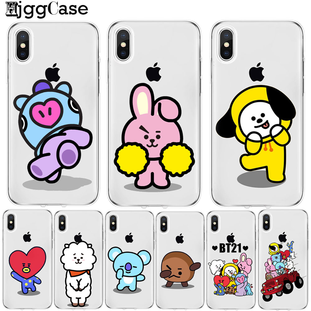 Good Phone Case Kpop Bts Bt21 Love Yourself Bangtan Tpu Soft Silicone Cover Case For Iphone X 7 7plus 6 6s 8 Plus 5 5s Se Coque Funda Products Are Sold Without Limitations Half-wrapped Case Phone Bags & Cases