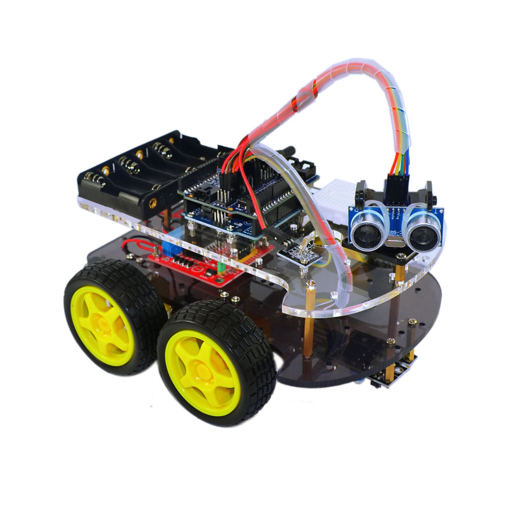 Robot Arduino Smart Remote Control Car Kit Include UNO R3 Ultrasonic Sensor Bluetooth Module For With Tutorial Stem Toys For Kid