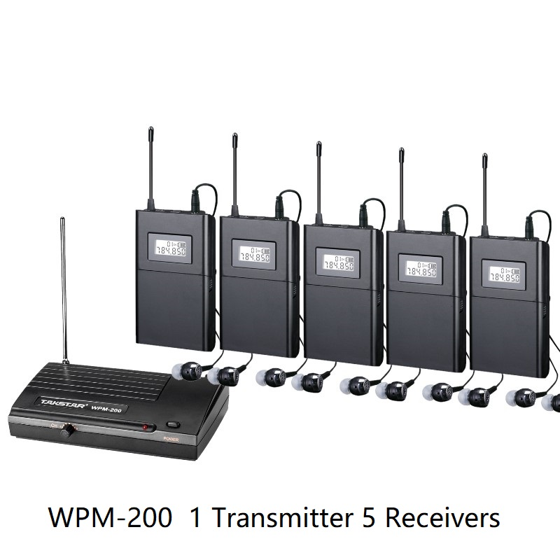Takstar wpm 200 wpm200 UHF Wireless Monitor System use for recording studio on stage Monitoring 1