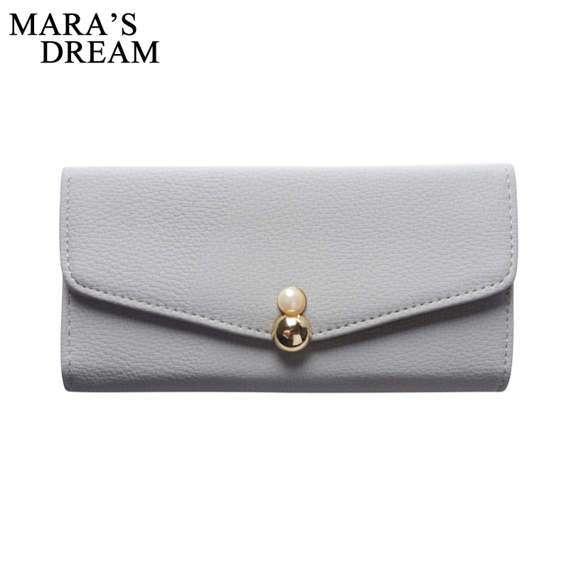 Mara's Dream Trifold Cute PU Leather Long Women Wallet Girls Change Clasp Purse Female Money Coin Card Holders Wallets Carteras  2017 hot sale lovely leather long women wallet fashion girls change clasp purse money coin card holders wallets carteras