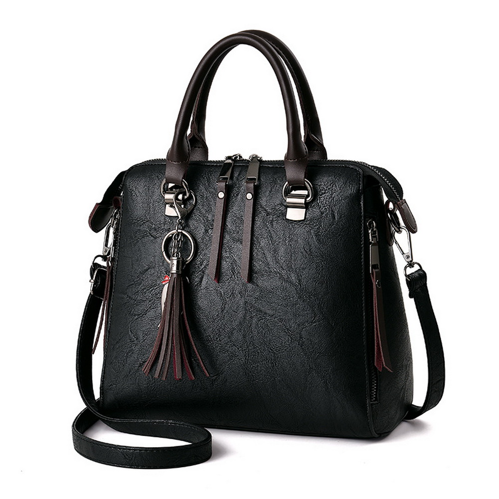 FUNMARDI New Vintage Tassel Handbags Simple Casual Cross Body Bags High Quality Women Totes British Casual Shoulder Bag WLAM0083 new high quality vintage casual 100