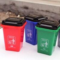 Mini Lata De Lixo Classificação Balde Crianças Balde de Armazenamento De Desktop Lixeira Com 100pcs Cartões Interativo Puzzle Brinquedos para Presentes|Cestos de lixo|Casa e Jardim -