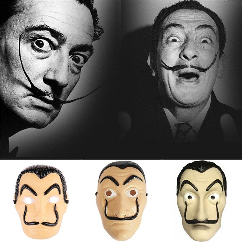 Salvador Dali Money Heist The House of Paper La Casa De Papel Halloween Masks/_Qo