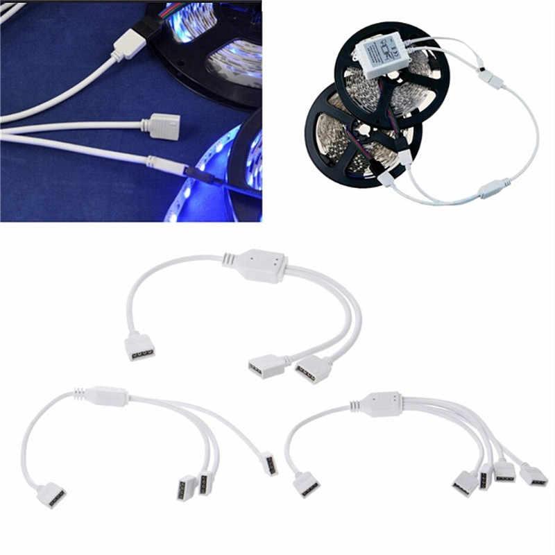 Светодиодные ленты легкий адаптер Разъем Кабельный зажим Solderless Водонепроницаемый 3528 5050 3014 RGB 4pin гибкий светодиодный разъем провод-удлинитель