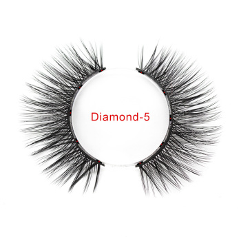 Genailish 5 magnets eyeashes for magnetic eyeliner magnetic eyeashes false eyelash for dropshipping 5