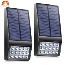 Super Bright 2PCS 15Led Outdoor Solar Light Garden Wall Lamp Motion Sensor Waterproof IP65 Microwave Induction LED