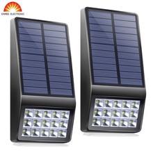 Super Bright 2PCS 15Led Outdoor Solar Light Garden Solar Wall Lamp Motion Sensor Waterproof IP65 Microwave Induction LED Light long jia sing your way to chinese 2 поем сами на китайском книга 2 cd книга на английском и китайском языке isbn 9787561923849
