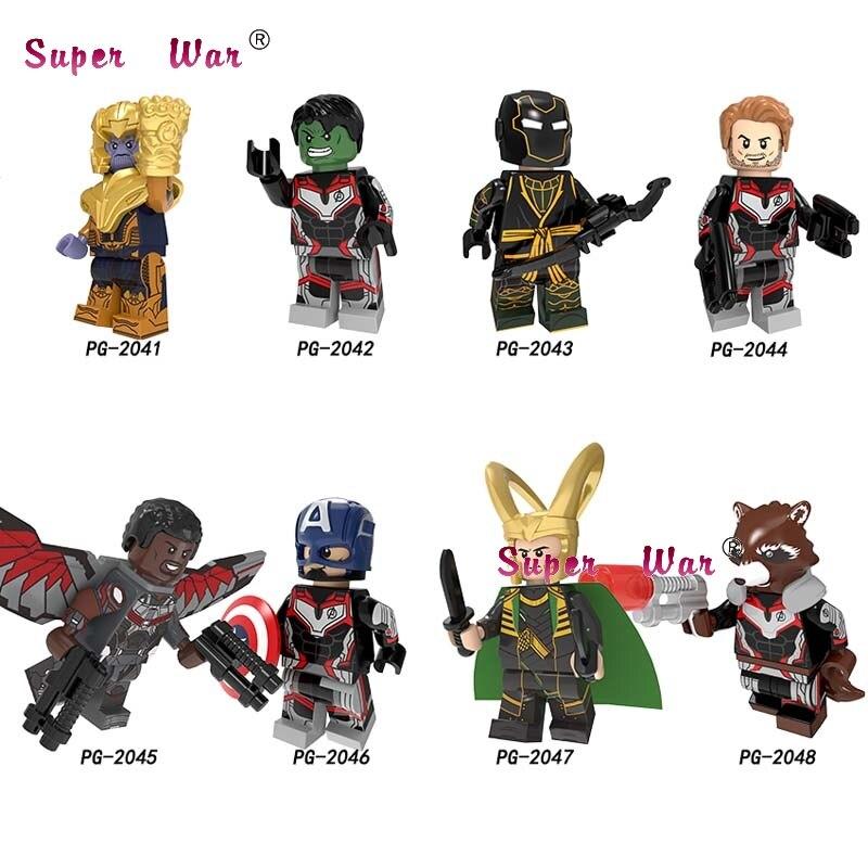 50 sztuk Avengers końcówki Loki Thanos Hulk Hawkeye kapitan ameryka gwiazda Lord rakieta szop building block dla dzieci w Klocki od Zabawki i hobby na AliExpress - 11.11_Double 11Singles' Day 1
