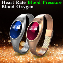 Fashion Women Blood Pressure Oxygen Heart Rate Monitor Smart Watch Android IOS Smartwatch Waterproof Smart Clock Fitness Watch