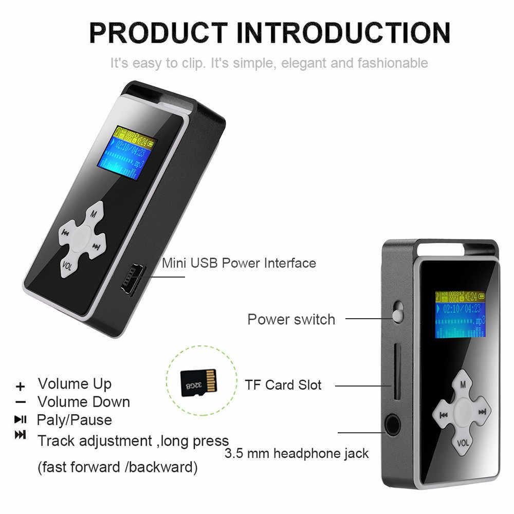 Usb ハイファイ音楽プレーヤー MP3 ウォークマン reproductor デジタル MP3 プレーヤー Lcd スクリーンサポートマイクロ SD TF カード 32 グラムミラー音楽メディア