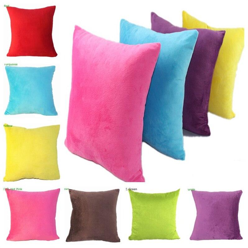 Moda Grande Personalizado Suave Color Sólido Corto Felpa - Textiles para el hogar