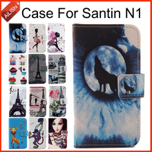 AiLiShi Case For Santin N1 Luxury Flip PU Painted Leather Exclusive 100% Special Phone Cover Skin+Tracking Hot