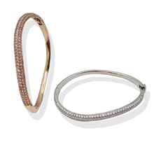 Bangles For Women Big Circle Indian Bangle Jewelry Party Gifts Gold Silver Plated Copper Bracelet