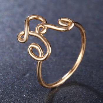 Fashion Letter Rings For Women
