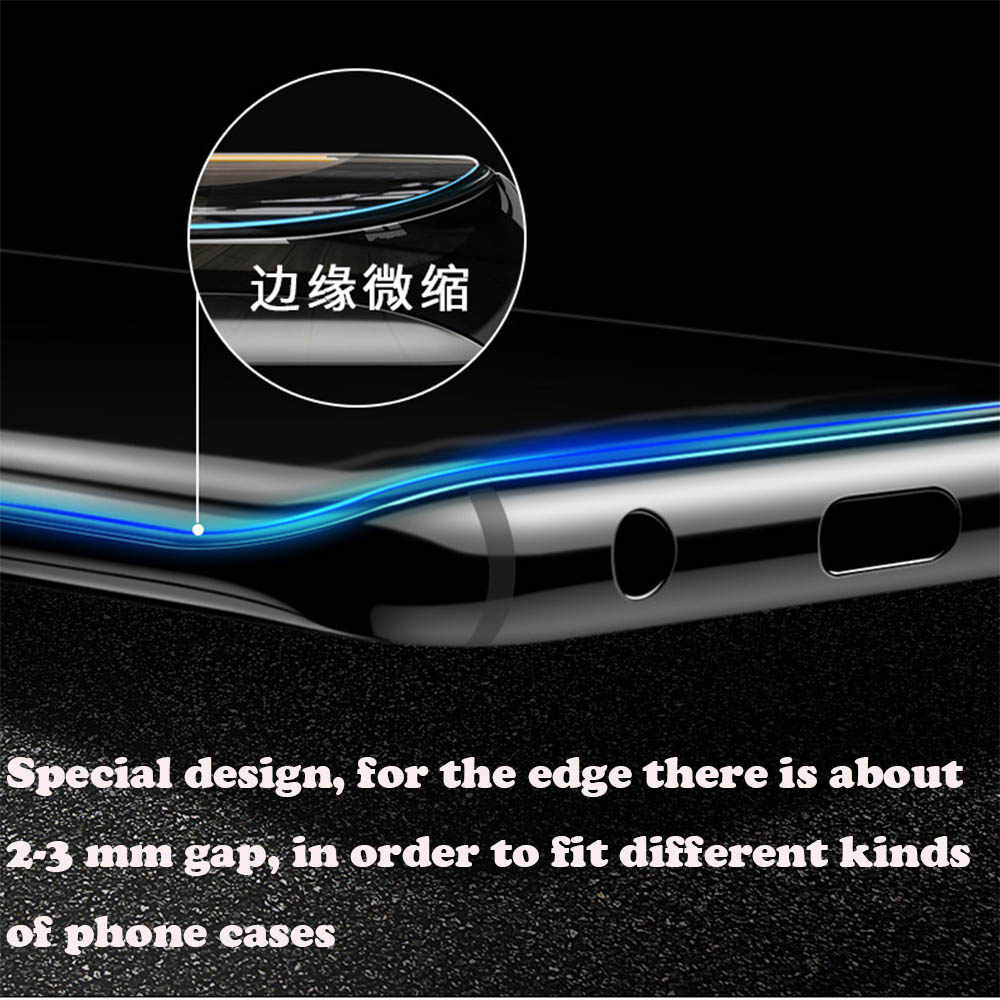2018 Color : Black Black CHENNAN 25 PCS Scratchproof 11D HD Full Glue Full Curved Screen Tempered Glass Film for Galaxy A6+ Screen Tempered Glass Film
