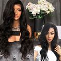 130%-300% de Alta Densidad Gluless peluca Llena Del Cordón Del Pelo Humano Pelucas Para Negro mujeres Onda Del Cuerpo Peluca Del Frente Del Cordón Del Pelo Humano Brasileño Upart Peluca