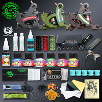 Professional Tattoo Kit For Top Artist 3 Tattoo Machine Gun Lining And Shading Tattoo Inks Tattoo