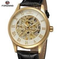 New đồng hồ cơ khí FSG8094M3G1 nam Sỉ xem phổ biến thiết kế với màu bạc màu sắc, với màu vàng số la mã, bộ xương,