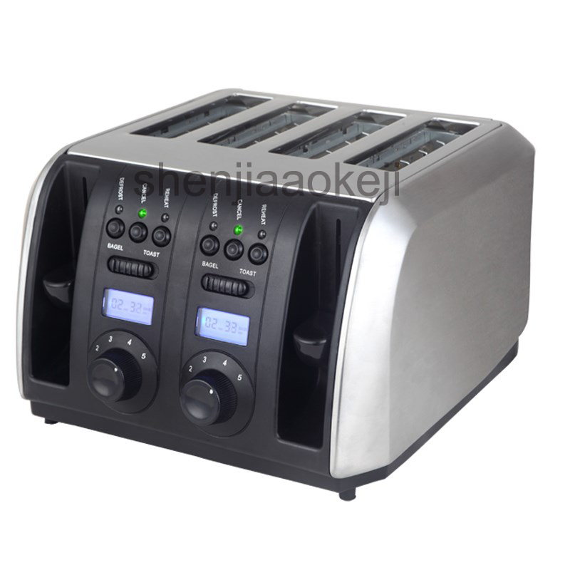 Commerical Multifunctional toaster Stainless Steel toaster baking machine Household 4 slices toaster 220v/50HZ 1750w 1pc цена и фото