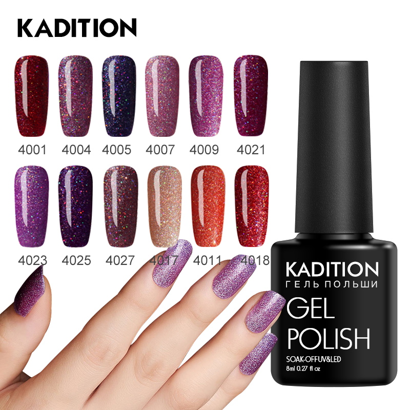 KADITION Neon Nail Gel 8ml Glitter Colorful Nail Polish