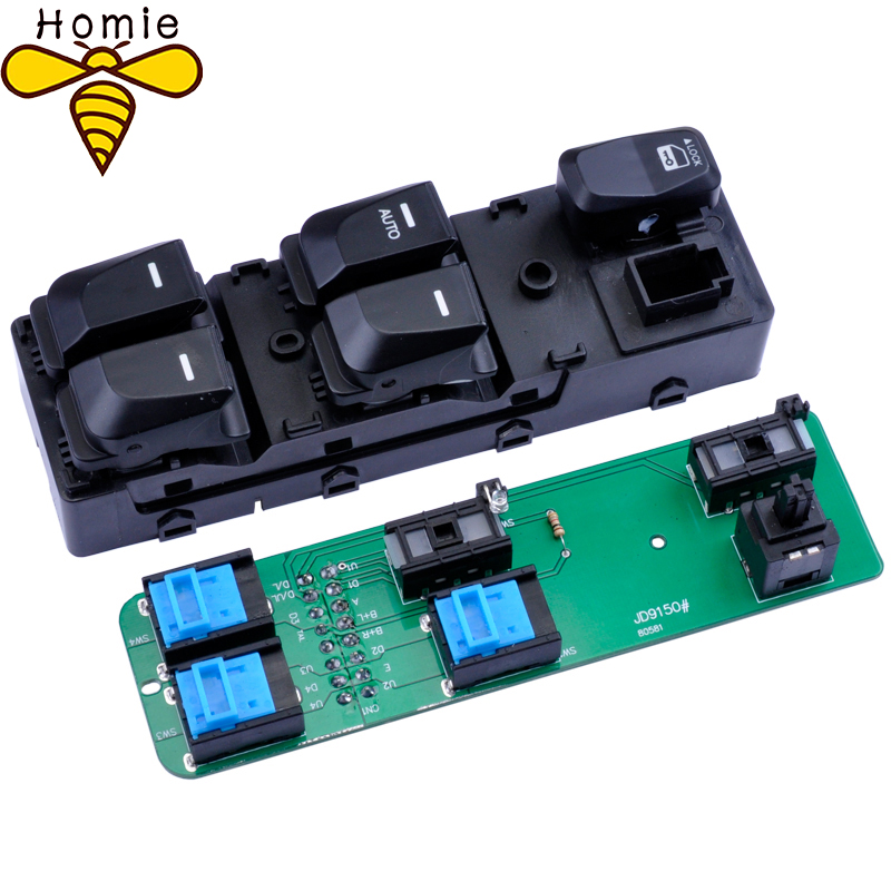 Electric Window Switch For Hyundai IX35 2009-2015,Car Driver Rear Window Switch For ix35 93580-2Z000 93570-2Z000 image