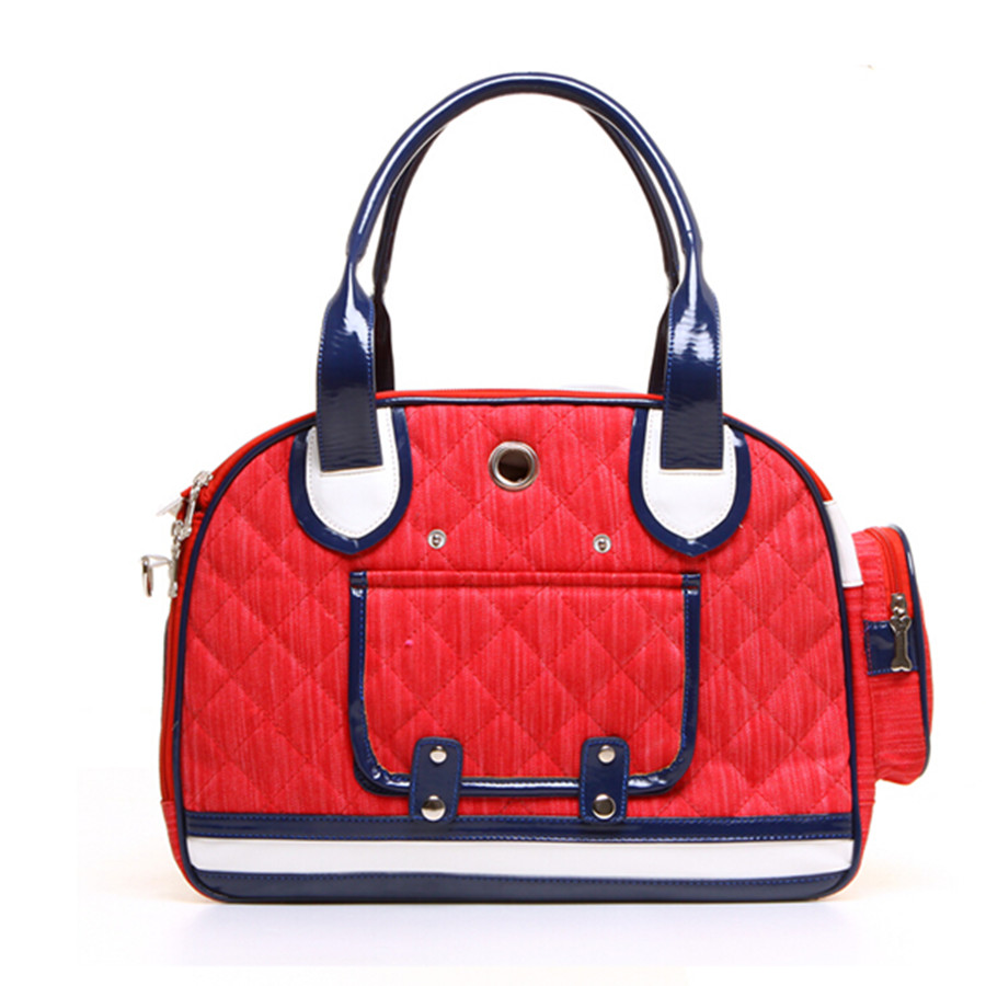 Red Canvas Pet Carrier Dog Bag Sling Tote Carriers For Small Dogs Puppy Chihuahua Cat American Sporty Trasportin Bags