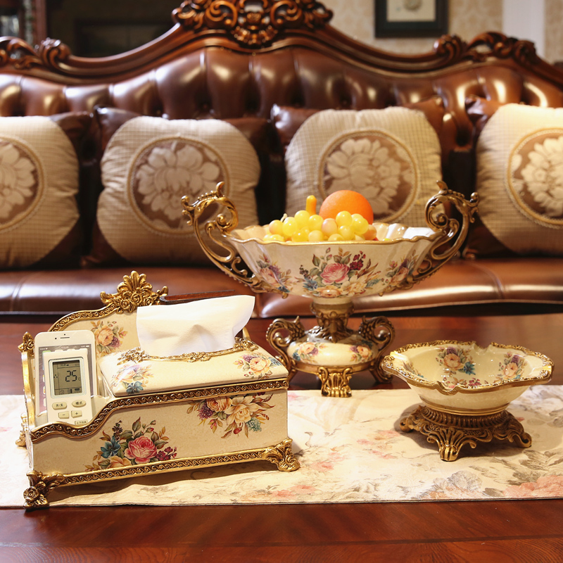 High End Decorative Living Room European Style Luxury: European Fruit Set Luxury Living Room Table Decor